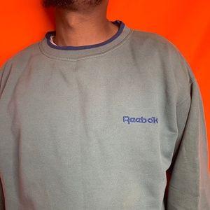 Vtg 90s Reebok Golf green sweatshirt